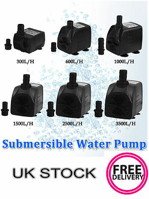 Submersible Water Pump Aquarium Fish Tank Sump Pond Water Feature Waterfall Pump