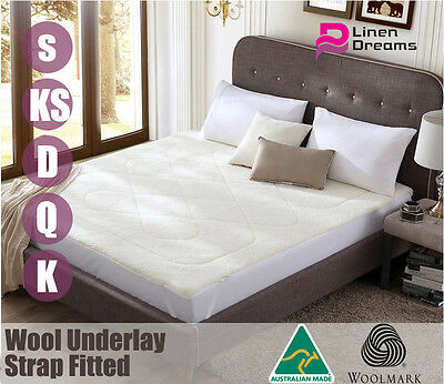 Aus Made Luxury Wool Underlay/ Underblanket---All Size