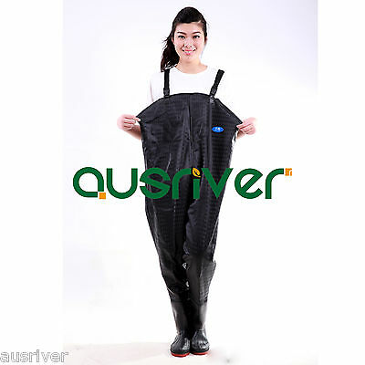 Premium Black 0.7 PVC Glue Rubber Chest Fishing Wader Waterproof Wader Boots