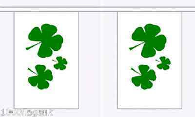 Ireland St Patrick Shamrock Giant Polyester Flag Bunting 18m long with 30 Flags