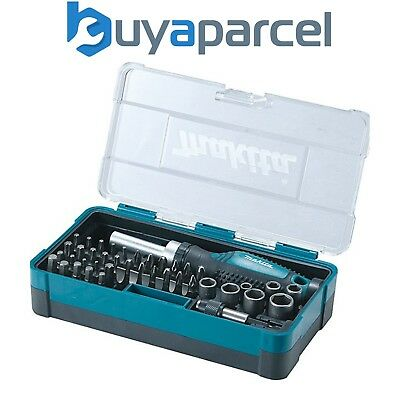 "Makita B-28612 47 Piece Ratchet Screwdriver and Bit Set - ¼"" Hex Shank"