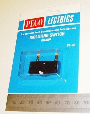 Peco PL-20  Isolating Switch. NEW  (Model Railways)