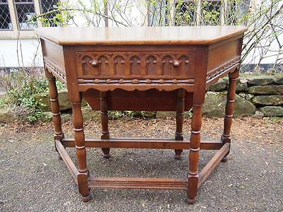 Lovely Oak Vintage Canted Cupboard/Console becomes Drop Leaf Table Very Handy