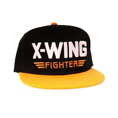 STAR WARS VII The Force Awakens X-Wing Snapback Baseball Cap, Black/Orange