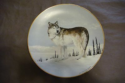 "PRINCETON GALLERY  Arctic Majesty Wolves "" FAR COUNTRY CROSSING Plate #H0592"