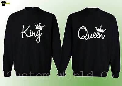 Couple Crewneck - King And Queen His and Hers New Design Couple Matching Sweater