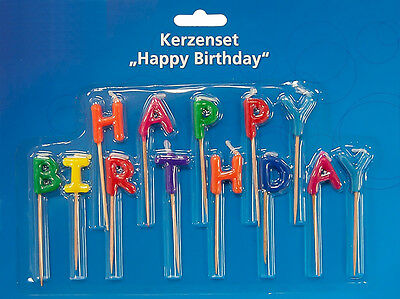 "3 x 13-teiliges Kerzenset ""Happy Birthday"" Geburtstags-Kerzen Dekoration Party"
