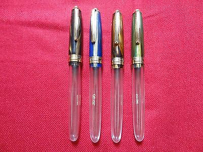 Oliver 69Ht Thick Clear Acrylic Demonstrator Eyedropper Fountain Pen- One  Pens