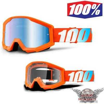 Ktm Kawasaki Orange Motocross Brille 100% Strata Crossbrille Offroad Enduro Quad