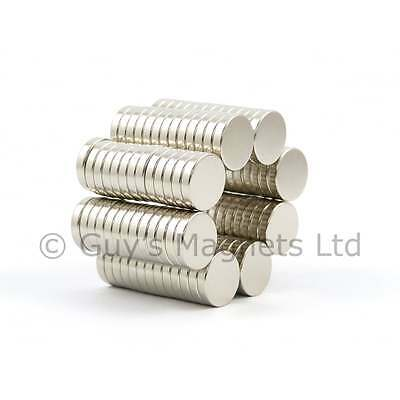 N52 10mm dia x 2mm strong Neodymium disk magnets SMALL QTYS craft fridge