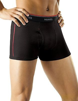 Hanes Men's Cool DRI Short Leg Boxer Briefs with Comfort Flex Waistband 5-Pack M