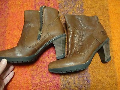2646ee55e910 Timberland Womens Earthkeepers Stratham Heights Ankle Boot Brown 6.5 SALE!