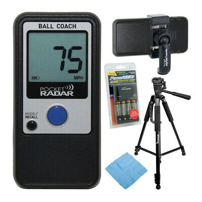 Pocket Radar Ball Coach Pro-Level Speed Training Tool with Accessory Bundle
