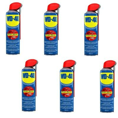 WD-40 6er SET Vielzweck Spray je 500 ml Smart Straw Multifunktionsprodukt Six-Pa