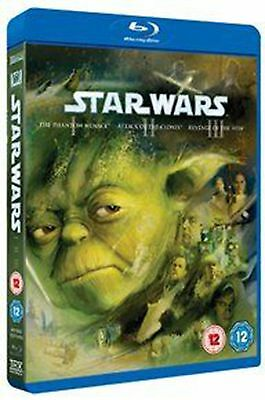 Star Wars Trilogy: Episodes I, II and III - Blu-ray Region B Free Shipping!