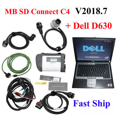 New MB Star SD Connect C4 Star Diagnosis +Software HDD V2016.12+Dell D630 Laptop