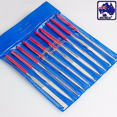 10pcs Diamond Needle Files Set Glass Carving Craft Metal 140 160 180mm TDRFI 07