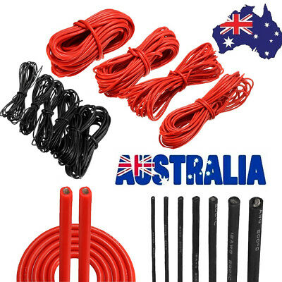 1/2/5/10 Meter Red/Black Silicone Wire Stranded Copper Cable 10~22AWG Flexible