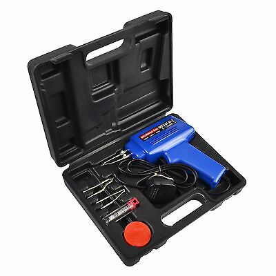 Electric Soldering Iron Kit Set with Solder/Flux 100W Gun Carry Case (IRE) TE656