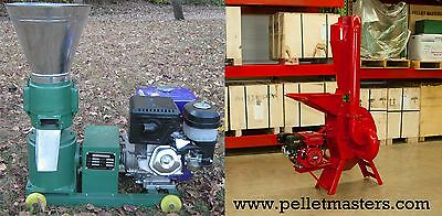 13 hp Pellet Mill + 7.5 hp Hammer Mill Gas Powered.  Free Shipping!  In stock!