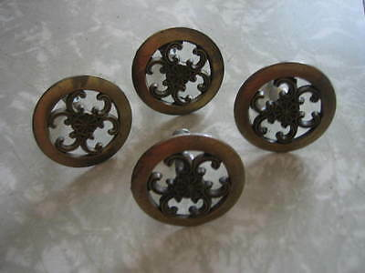 Vintage Lot of 4 Hollywood Regency Ornate Drawer Pulls