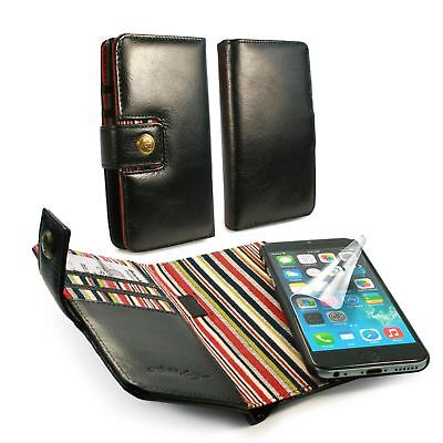 Alston Craig Personalised Vintage Leather Wallet RFID Block Case iPhone 6S Blk
