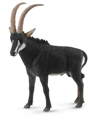 CollectA #88564 Giant Sable Antelope Male, Toy Collectible Antelope