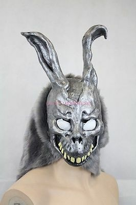 Donnie Darko FRANK the Bunny MASK Latex Overhead with Fur Adult