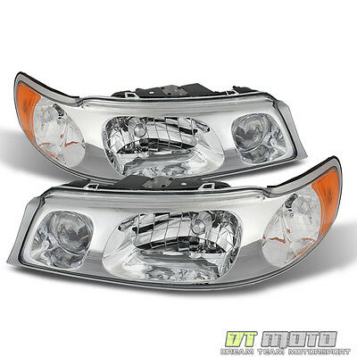 1998-2002 Lincoln Town Car Replacement Headlights Headlamps 98-02 Set Left+Right