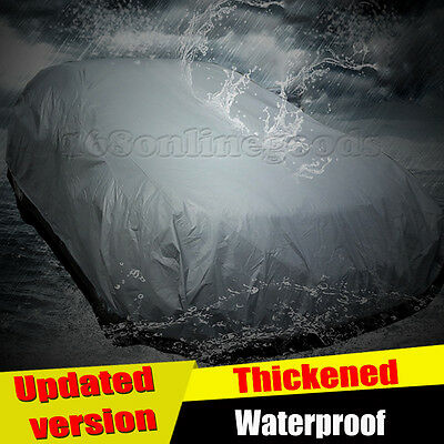 2 Layer Heavy Duty Waterproof Car Cover Cotton Lining Scratch Proof M Size UK