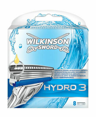 Wilkinson Sword Hydro 3 Razor Blades - 8 Pack Genuine