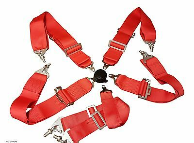 "Racing Harness Seat Belt - 3"" Nylon 4/5/6 Point Fixing – Red"