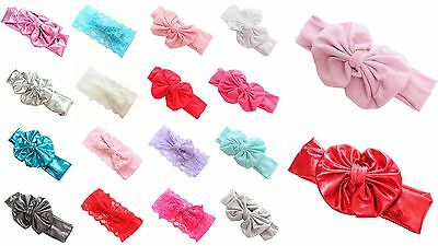 Baby Girl Party Wedding Photo-shoot Fancy Bow Lace Headbands Hair Accessories