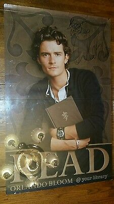 """Signed Orlando Bloom Poster 22"""" x 34"""""""