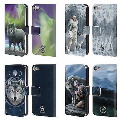 OFFICIAL ANNE STOKES WOLVES LEATHER BOOK WALLET CASE FOR APPLE iPOD TOUCH MP3