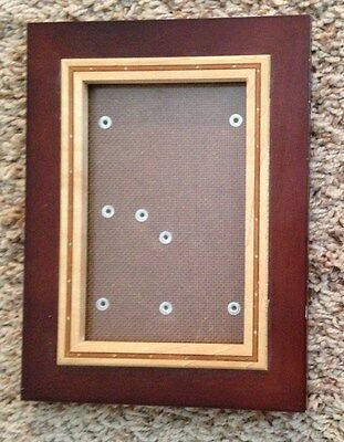 """Red Wood  6X8"""" Picture Frame - Holds 4X6"""" Photo"""