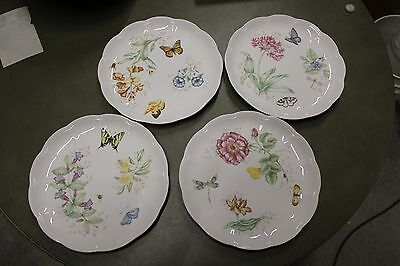 """LENOX BUTTERFLY MEADOW (4) DINNER PLATES 10 7/8""""-Different Patterns"""
