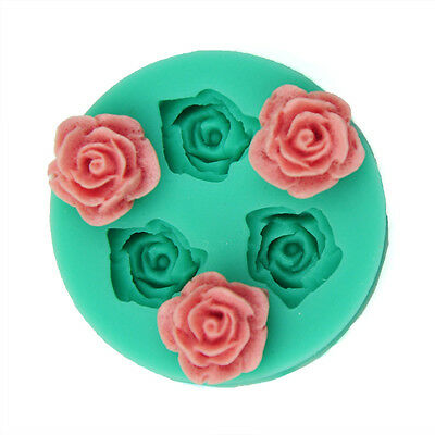 Mini Rose Flower Silicone Mold Making for Super Sculpey Polymer Clay NEW