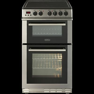 Belling FS50EDOPC 50cm Double Oven Electric Ceramic Cooker in Stainless Steel