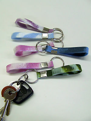 KEYRING ** J Name Band gift present key ring Jake Jackie John Joel Jessica +MORE