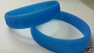 KICK BULLYING wristband Blue YOUTH &ADULT Anti Bully Band Beat Schools Awareness