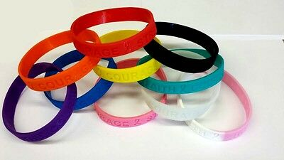 HOPE Awareness Wristband Bracelet Glow in the Dark,pink,black,blue,orange,yellow