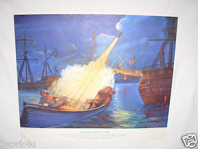 The Rockets' Red Glare 1814  Print by Charles H Hubbell