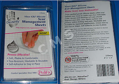 "PediFix Visco-GEL Silicone Scar Management Therapy Treatment Sheets 2-1/2x3"" TWO"