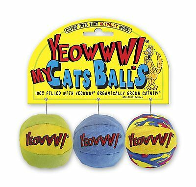 Yeowww! My Cats Balls Cat Toy 3 Pack 0409