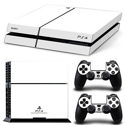 New Playstation 4 PS4 Design Skin Case Protector Kit Decal Sticker White