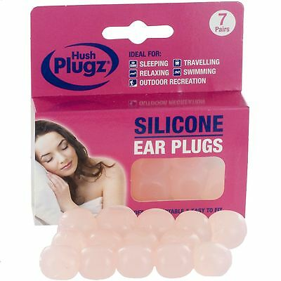 7 Pairs - Adult Custom Moldable Soft Silicone Putty Swimming & Sleeping Earplugs