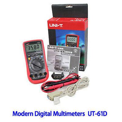 UNI-T Modern Digital Multimeter UT61D AC DC true RMS USB port resistance OZ
