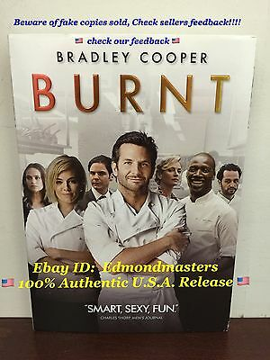 BURNT DVD 2016 NEW 100% Authentic U.S. Release!! (BEWARE OF CHEAP FAKES SOLD)