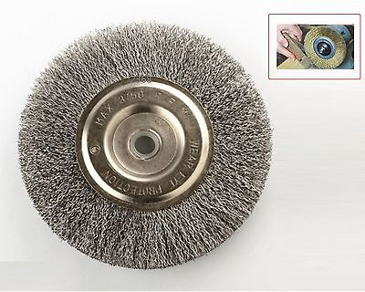 "6"" Steel Wire Wheel Brushes For Bench Grinder 5/8 1/2 Arbor"